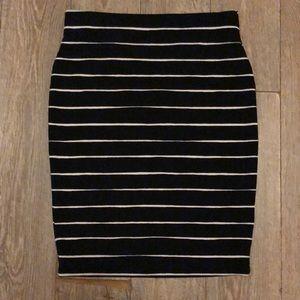 Banana Republic Petite Striped Pencil Skirt